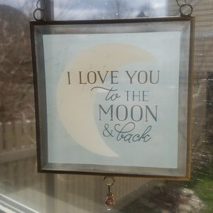 Other - I 💜 you to the moon & back glass sign
